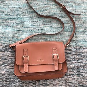 Used KATE SPADE camel leather cross body